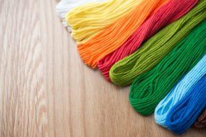 ビーズ刺繍のビーズ糸